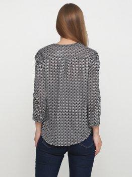 Блузка H&M 3080614RP2 Серо-черный узор