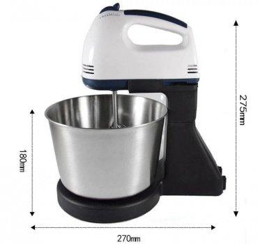 Міксер кухонний з металевою чашкою Crownberg CB-7321 (2 л, 300 Вт, 7 швидкостей)