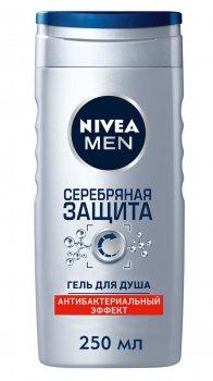 Гель для душа Nivea Men Серебряная защита с ионами серебра 250 мл (4005808518111)