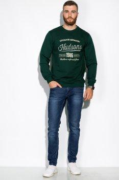 Свитшот мужской с круглым вырезом Time of Style 157P1501 Зеленый
