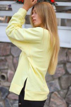 Свитшот Wear me спортивный с розрезами Жёлтый 2w/43/52