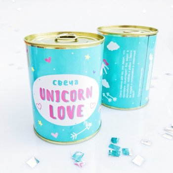 "Консерва-свічка PAPAdesign ""Unicorn love"" 73*95 мм"