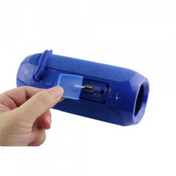 Портативна блютуз колонка T&G TG-117 SPEAKER Синя 10 ВТ бездротова з флешкою радіо та слотом для карти Bluetooth 4.2 USB вологостійка (45775 I)