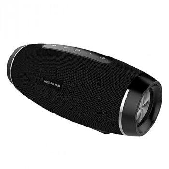 Портативна блютуз колонка Hopestar H27 SPEAKER Чорна 10 ВТ бездротова з флешкою радіо і стерео звуком Bluetooth 4.1 підсвічування USB (47016 I)