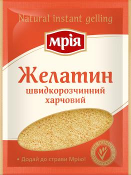 Упаковка кондитерского ингредиента Мрія Желатин 25 г х 42 шт (4820154833042)