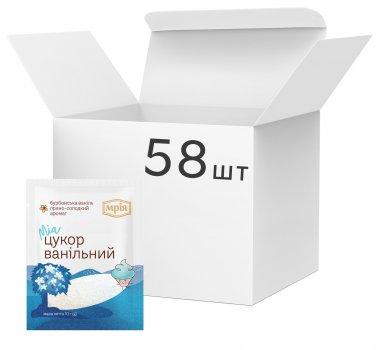 Упаковка кондитерського інгредієнта Мрія Ванільний цукор 10 г х 58 шт. (4820154833882)