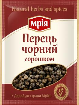 Упаковка спецій Мрія Перець чорний горошком 20 г х 32 шт. (4820154833004)