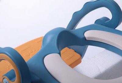 Детское сидение на унитаз Babyhood Трансформер с лесенкой и полиуретановым кольцом Розовое (BH-131PP)