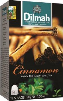 Упаковка чая черного пакетированного Dilmah Корица 12 шт по 20 пакетиков (19312631142099)