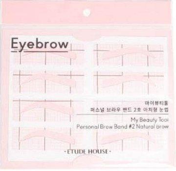 Трафарети для брів Etude House My Beauty Tool Personal Brow Band #2 Natural Brow 2 пачки по 8 шт. (8806199472640)