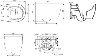 Унітаз підвісний DEVIT Acqua New безобідковий із сидінням Soft Close Quick-Fix дюропласт 3020155W білий матовий