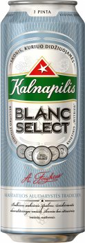 Упаковка пива Kalnapilis Blanc Select светлое не фильтрованное 5% 0.568 л х 24 шт (4770477231103G)