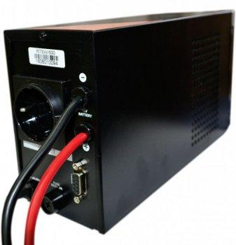 Блок безперебійного живлення RITAR RTSW-600 LCD (360Вт),12В, під зовн.батарею, 4,2 кг (260*85*140)