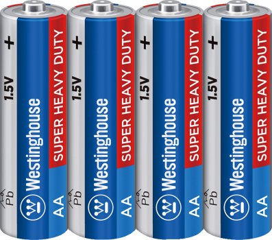 Солевые батарейки Westinghouse Super Heavy Duty AA/R6 4 шт (889554000816)