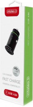Автомобільний зарядний пристрій Intaleo CCG482 2xUSB 4.8 A Black (1283126504525)
