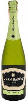 Вино ігристе Gran Baron Cava Brut Organic Bio біле брют 0.75 л 11.5% (8413216101270)
