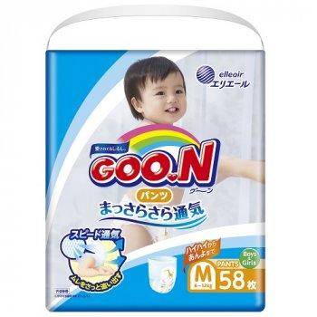 Японські трусики-підгузки GOO.N для дітей 6-12 кг M 58шт (843095)