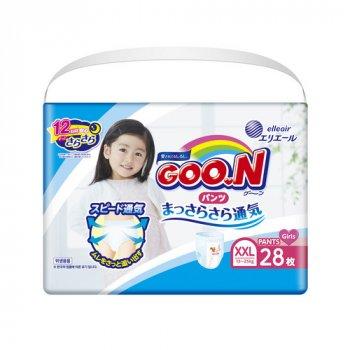 Японські підгузки-трусики для дівчаток GOO.N 13-25кг BigBig XXL 28шт (843101)