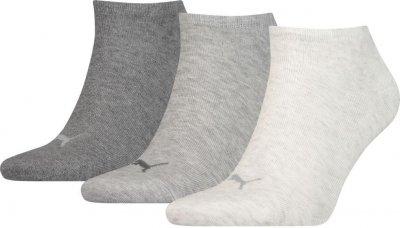 Набор носков Puma Puma Unisex Sneaker Plain 3p 261080001-002 3 пары Серый М