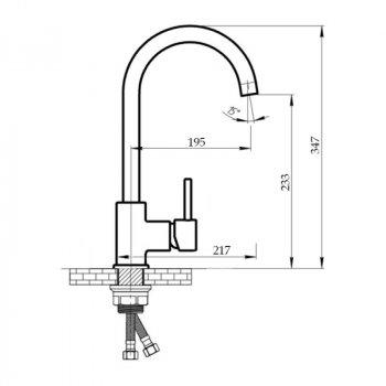 Змішувач для кухні Imperial 31-107WHI-01