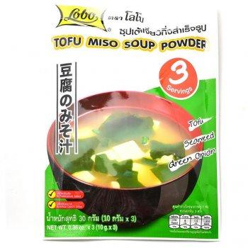Суп швидкого приготування Tofu Miso три порції LOBO 30г