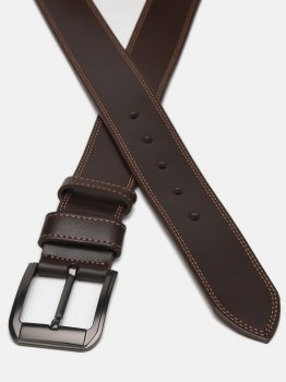 Мужской ремень кожаный Sergio Torri 14-0027/45 120 см Коричневый (2000000019475)