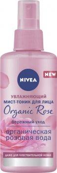 Увлажняющий мист-тоник для лица Nivea Organic Rose с натуральной розовой водой 150 мл (4005900809087)