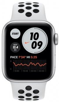 Смарт-часы Apple Watch SE Nike GPS 40mm Silver Aluminum Case with Pure Platinum/Black Nike Sport Band (MYYD2UL/A)