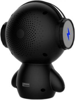 Портативна колонка-робот UTG-T з функцією караоке та мікрофоном М10 Black (4820176245724)