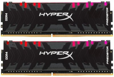Оперативная память HyperX DDR4-4266 16384MB PC4-34128 (Kit of 2x8192) Predator RGB (HX442C19PB3AK2/16)