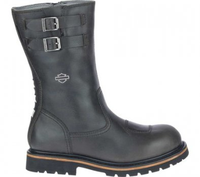"Чоловічі чоботи Harley-Davidson Brosner 10"" Pull On Waterproof Motorcycle Boot Black Waterproof Full Grain Leather (150929)"