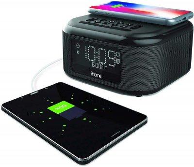 iHome IBTW23B, Qi Wireless Charging, BT, USB, Mic