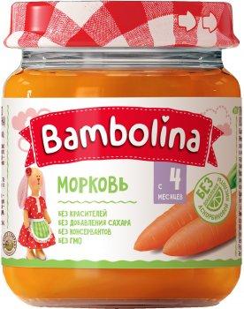 Упаковка пюре Bambolina Морквяного 100 г х 12 шт. (4813163004411)