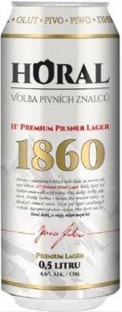 Упаковка пива Horal Premium Pilsner Lager светлое фильтрованное 4.6% 0.5 л х 24 шт (8594188950032G)