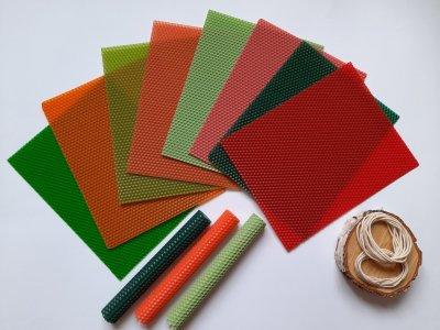 """Набір для створення свічок з кольорової вощини """"Літо"""" Zigrivay (26х20см) 8 шт (10015)"""