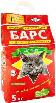Упаковка наполнителя для кошачьего туалета Барс №3 Бентонитовый комкующий 5 кг 4 шт (4820031330022)