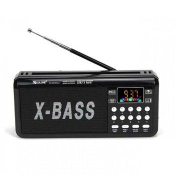 Радіоприймач Golon RX-BT204LS Bluetooth, TWS - пара, FM, сонячна панель