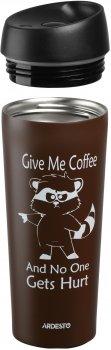 Термочашка Ardesto Coffee time Raccoon 450 мл Коричнева (AR2645DML)