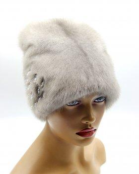 """Норкова жіноча шапка VECONS """"Біні цілісна"""" One size сапфір"""