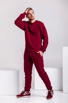 Спортивный костюм мужской теплый WB свитшот и штаны размер (WB Shop) бордовый