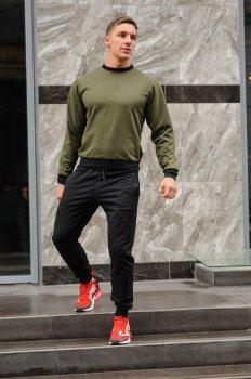 Спортивний костюм чоловічий світшот і штани WB розмір (WB Shop) оливково-чорний