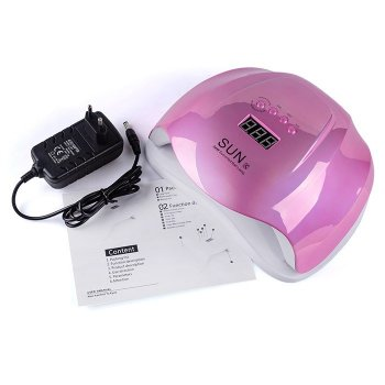 Лампа SUN X 54W Mirror (зеркальная) LED/UV для полимеризации розовая