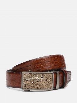 Мужской ремень кожаный Sergio Torri 10-066 кон. 135 см Коричневый (2000000018584)