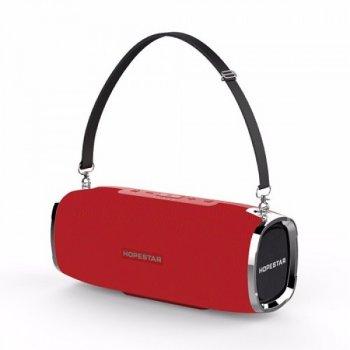 Потужна портативна акустична 2.1 бездротова Bluetooth Блютуз колонка з сабвуфером Hopestar A6 Red