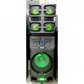 Портативная акустика с микрофоном ERA E-12 /180W (USB/BLUETOOTH/ПУЛЬТ ДУ/FM) , акустика, домашний кинотеатр, музыкальный центр, черная