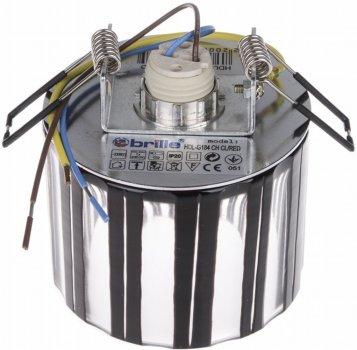 Світильник точковий Brille HDL-G184 CH CL/RED (L13-017)