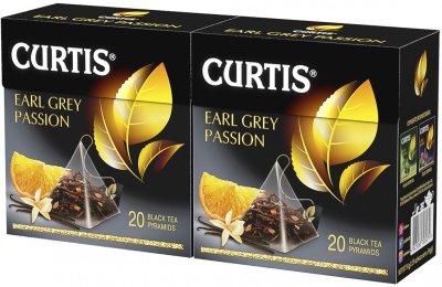 Упаковка чая черного Curtis Earl Grey Passion с добавками пакетированного 20 пирамидок х 2 шт 68 г (2000000000107)