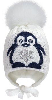Зимняя шапка с завязками David's Star 17310 46 см Молочная (ROZ6400021780)