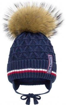 Зимняя шапка с завязками David's Star 2088 50 см Темно-синяя (ROZ6400021906)
