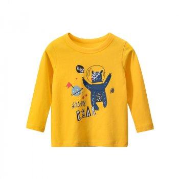Лонгслив для мальчика Space bear 27 KIDS Желтый (56436)